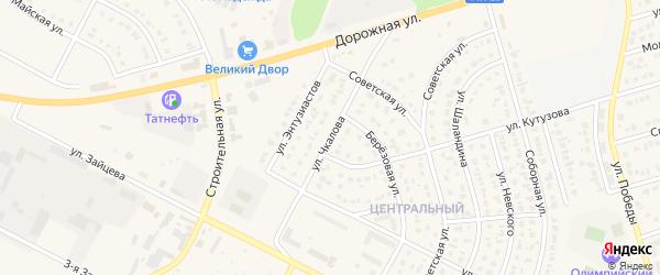 Улица Чкалова на карте Строителя с номерами домов
