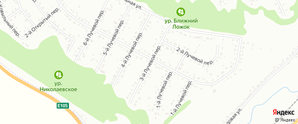 Лучевой 3-й переулок на карте Белгорода с номерами домов
