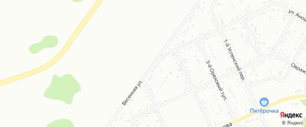 Весенняя улица на карте Белгорода с номерами домов