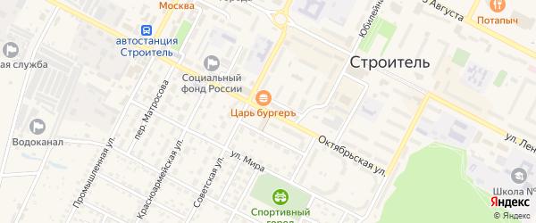 Октябрьская улица на карте Строителя с номерами домов
