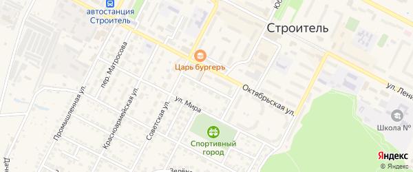 Пионерский переулок на карте Строителя с номерами домов