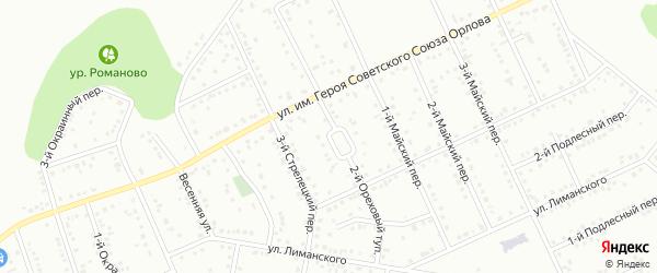 Ореховый 2-й тупик на карте Белгорода с номерами домов