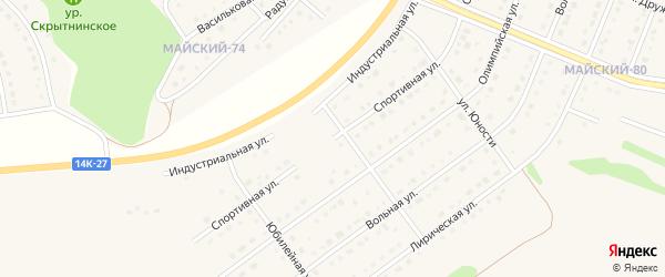 Спортивная улица на карте Майского поселка с номерами домов