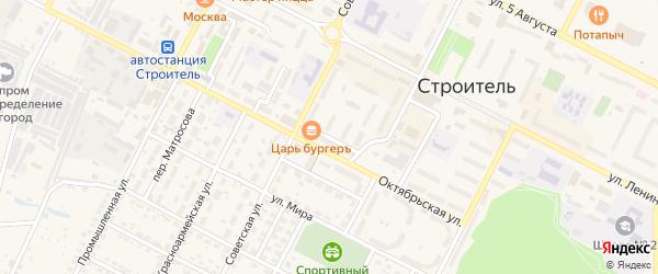 Советский переулок на карте Строителя с номерами домов