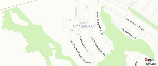 Хотмыжская улица на карте Белгорода с номерами домов