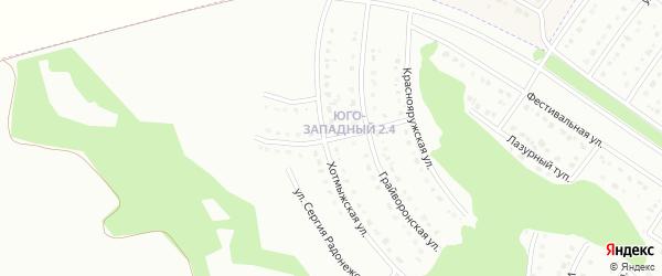 Хотмыжский 1-й переулок на карте Белгорода с номерами домов