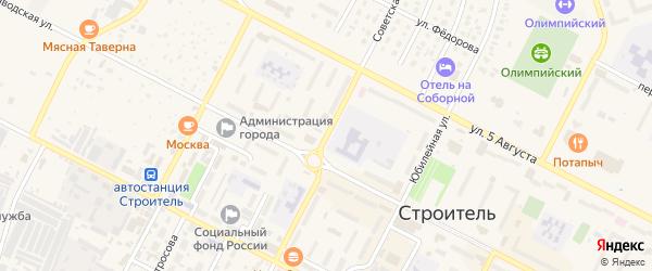 Советская улица на карте Строителя с номерами домов