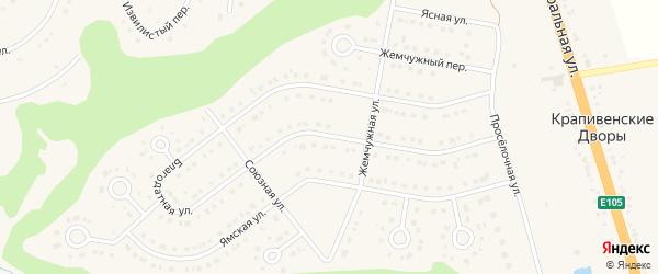 Благодатная улица на карте Строителя с номерами домов