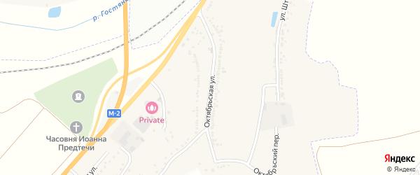 Октябрьская улица на карте Майского поселка с номерами домов