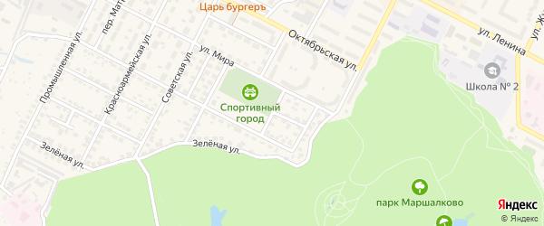 Спортивный переулок на карте Строителя с номерами домов