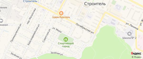Южный переулок на карте Строителя с номерами домов