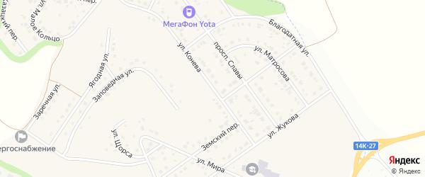 Улица Конева на карте Майского поселка с номерами домов