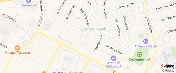 Улица Федорова на карте Строителя с номерами домов