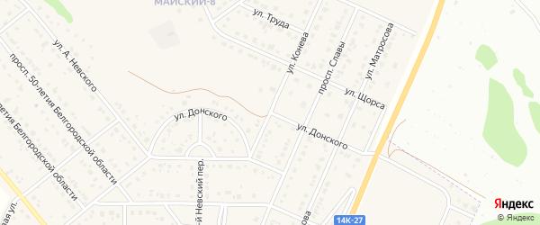 Улица Донского на карте Майского поселка с номерами домов