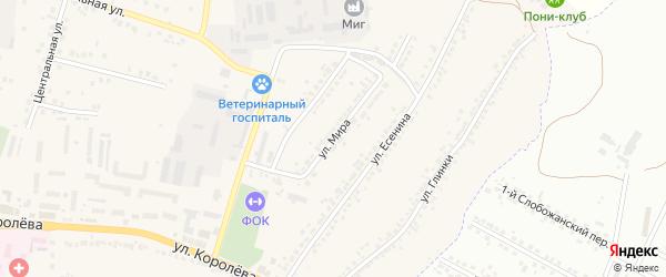 Улица Мира на карте Стрелецкого села с номерами домов