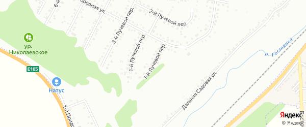 Лучевой 1-й переулок на карте Белгорода с номерами домов