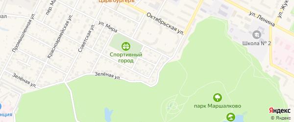 Переулок Новоселов на карте Строителя с номерами домов