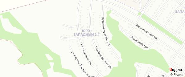 Грайворонская улица на карте Белгорода с номерами домов