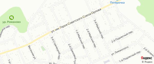 Майский 1-й переулок на карте Белгорода с номерами домов