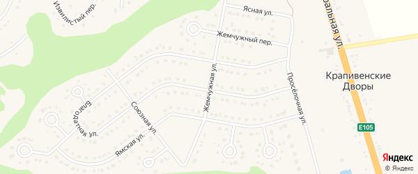 Жемчужная улица на карте Строителя с номерами домов