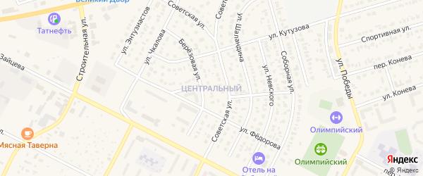 Центральный микрорайон на карте Строителя с номерами домов