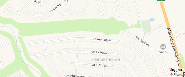 Северная улица на карте Строителя с номерами домов