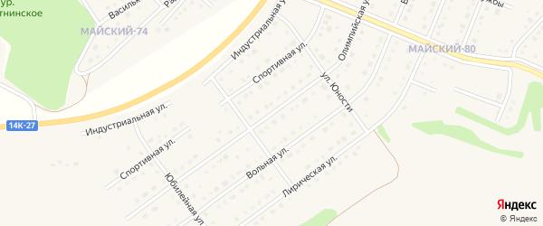 Олимпийская улица на карте Майского поселка с номерами домов