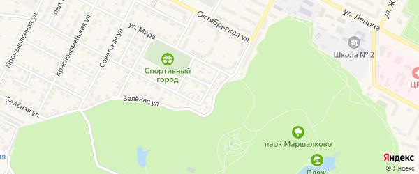 Мирный переулок на карте Строителя с номерами домов