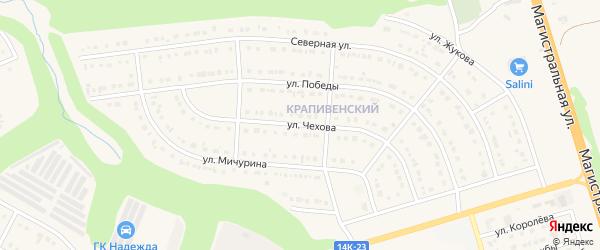 Улица Чехова на карте Строителя с номерами домов