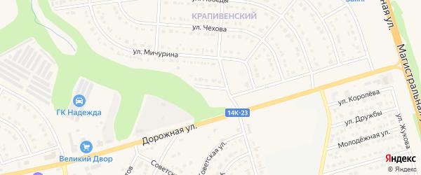 Мичуринский переулок на карте Строителя с номерами домов