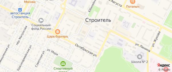 Казначейский переулок на карте Строителя с номерами домов