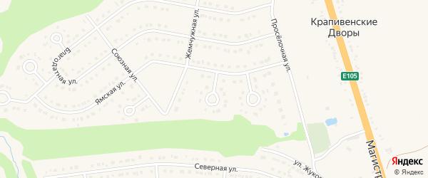 Свободный переулок на карте Строителя с номерами домов