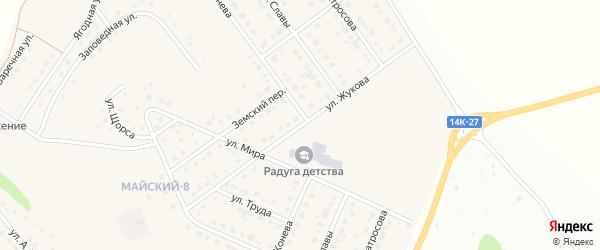 Улица Жукова на карте Майского поселка с номерами домов