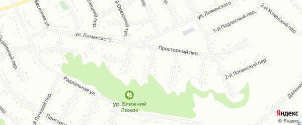 Шагаровский 3-й переулок на карте Белгорода с номерами домов