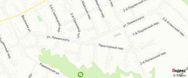 Улица им Лиманского К.А. на карте Белгорода с номерами домов