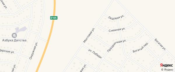 Мостовая улица на карте Стрелецкого села с номерами домов