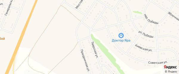 Праздничная улица на карте Стрелецкого села с номерами домов