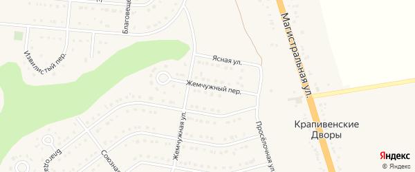 Жемчужный переулок на карте Строителя с номерами домов