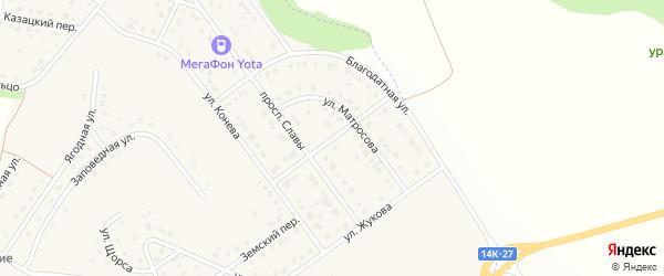 Степной переулок на карте Майского поселка с номерами домов