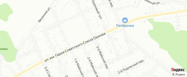 Майский 3-й переулок на карте Белгорода с номерами домов