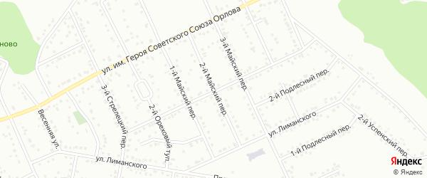 Майский 2-й переулок на карте Белгорода с номерами домов