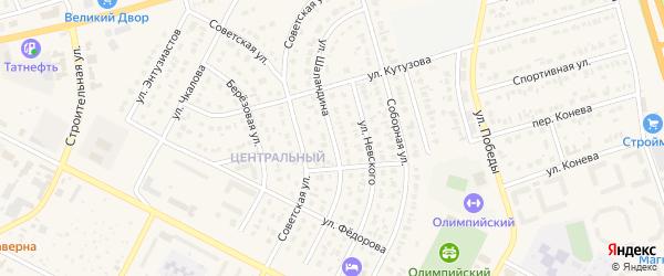 Улица Шаландина на карте Строителя с номерами домов