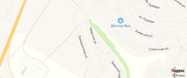 Тверская улица на карте Стрелецкого села с номерами домов