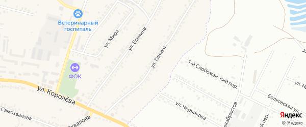 Улица Глинки на карте Стрелецкого села с номерами домов