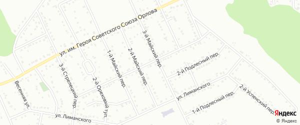 Подлесный 3-й переулок на карте Белгорода с номерами домов