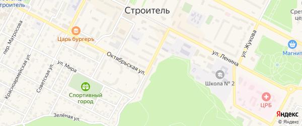 Улица Кривошеина на карте Строителя с номерами домов