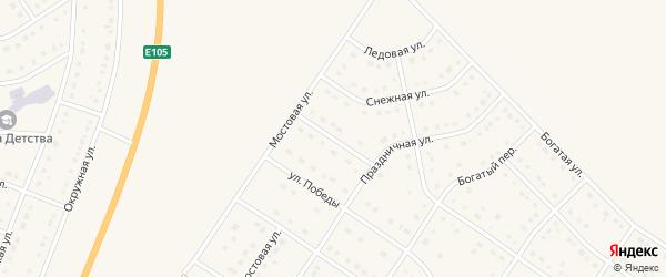 Праздничный переулок на карте Стрелецкого села с номерами домов
