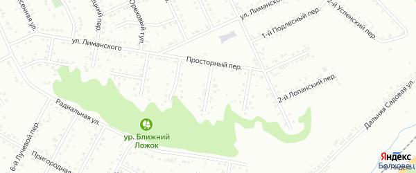 Шагаровский 2-й переулок на карте Белгорода с номерами домов