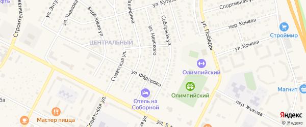 Улица Невского на карте Строителя с номерами домов