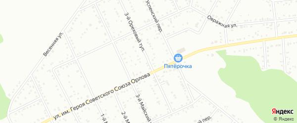 Ореховый 3-й тупик на карте Белгорода с номерами домов